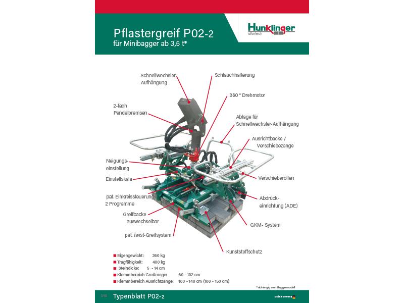 Typenblatt Pflasterzange P02-2