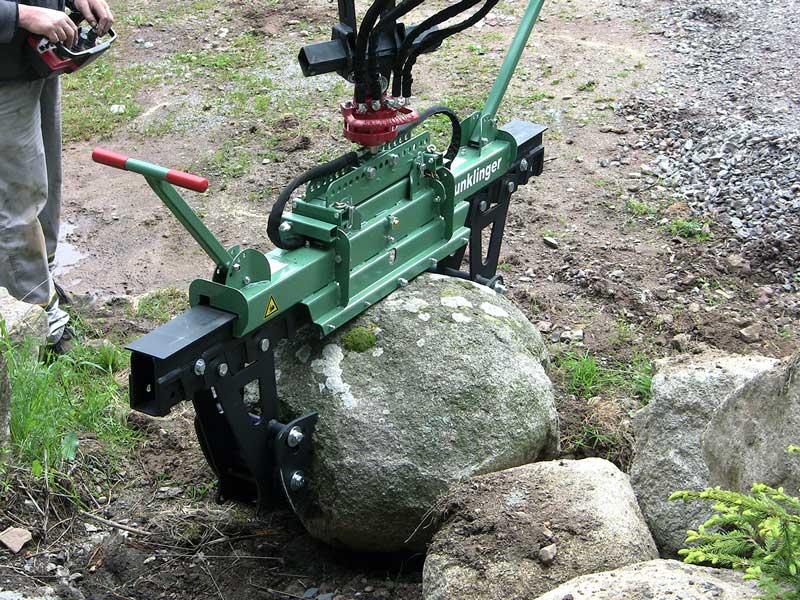 hydraulisch runde Steine versetzen