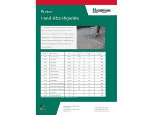 Preise Hand-Abziehgeräte