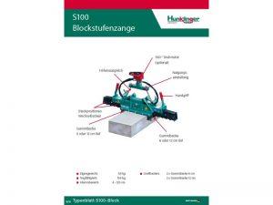 Typenblatt Blockstufenzange S100