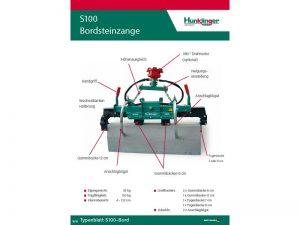 Typenblatt Bordsteinzange S100