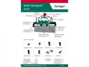 Typenblatt Multi-Steingreif