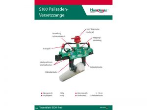 Typenblatt Palisadenzange S100