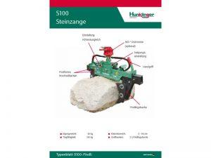 Typenblatt Steinzange S100