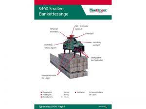 Typenblatt Straßen Bankettezange S400