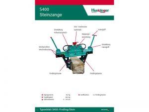 Typenblatt Steinzange S400