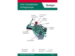 Typenblatt Verkalitzange S400