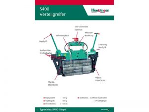 Typenblatt Pflaster Verteilgreifer S400